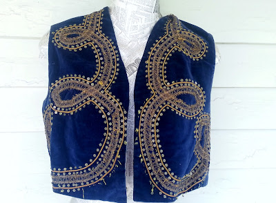 velvet antique clothing - vest