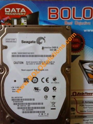 RECOVERY HARDDISK SEAGATE MOMENTUS 5400 500GB 2.5 INCH