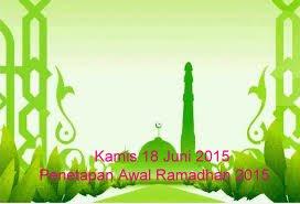 penetapan awal ramadhan 2015