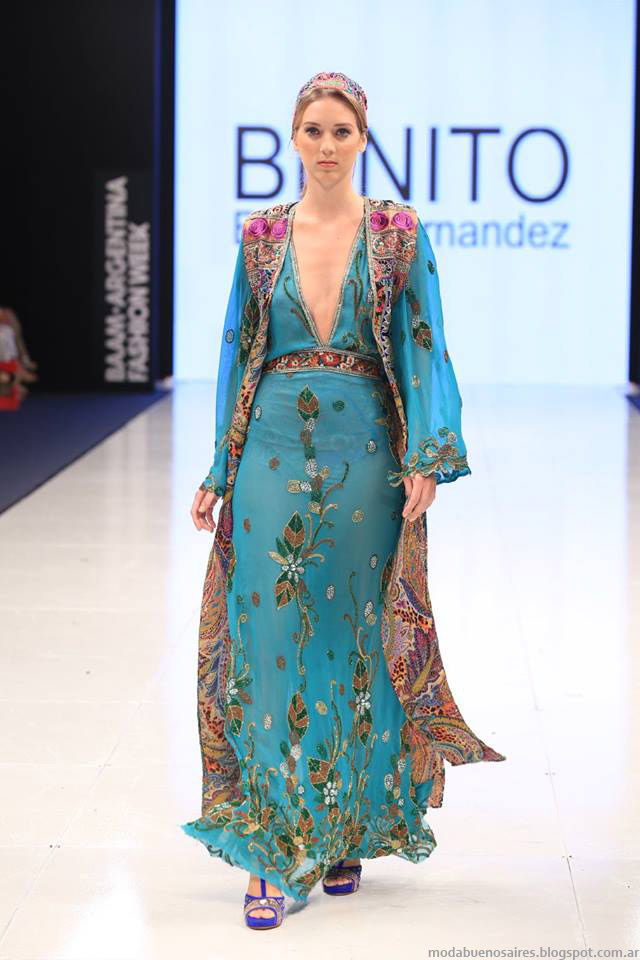 Vestidos de fiesta otoño invierno 2015 Benito Fernandez.Moda otoño invierno 2015 Argentina.