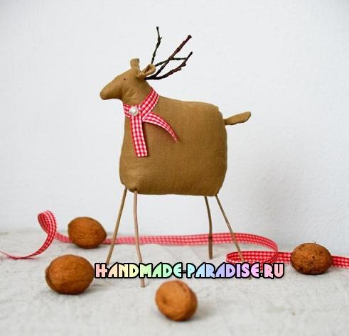 Текстильный олень. Выкройка (3)