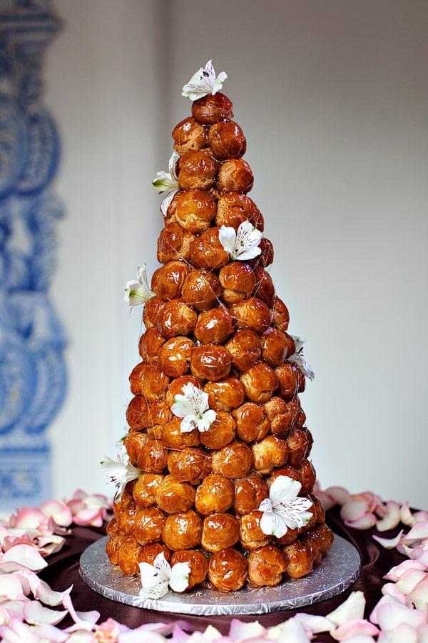 Croque En Bouche Wedding Cake