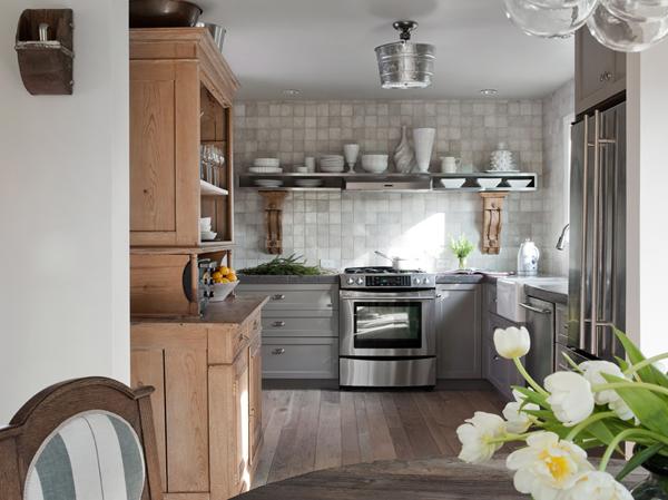 diseño interior casa pequeña - cocina integrada