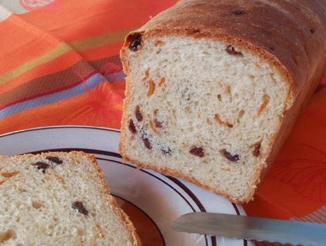 Pan de naranja y pasas