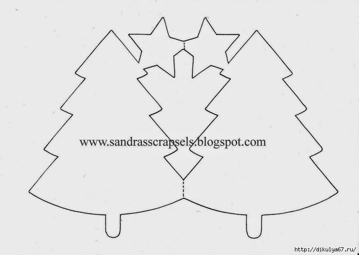 Новогодние елка из бумаги своими руками шаблоны