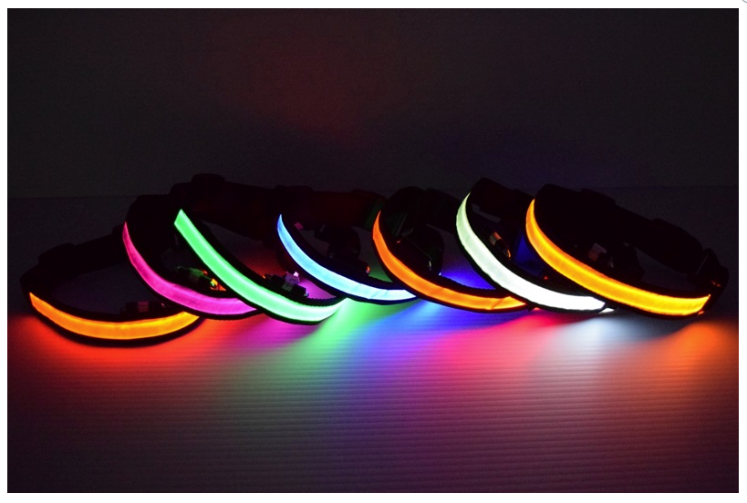 LED Light Up Dog Collars