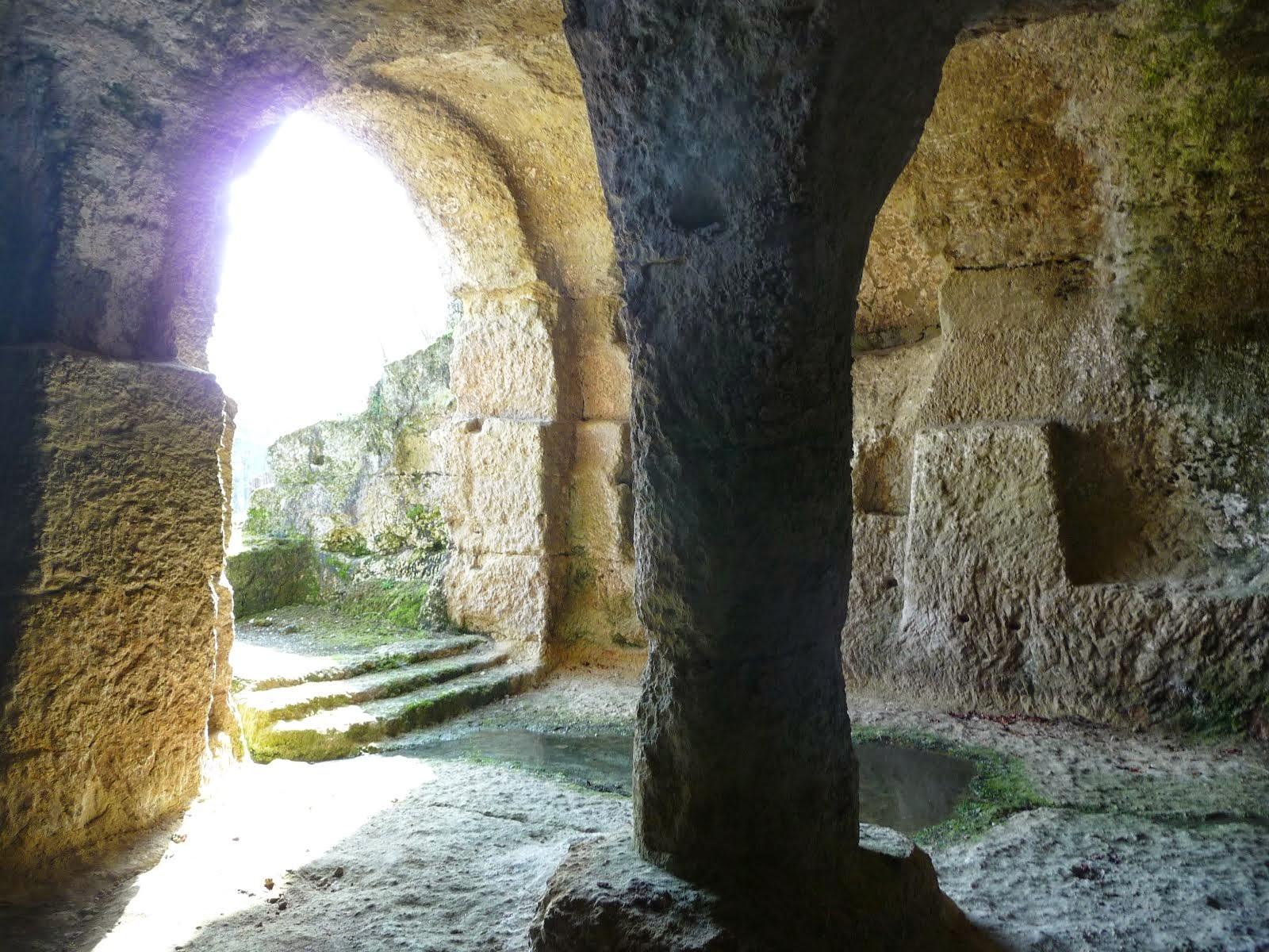 Monolithic church Gurat interior view