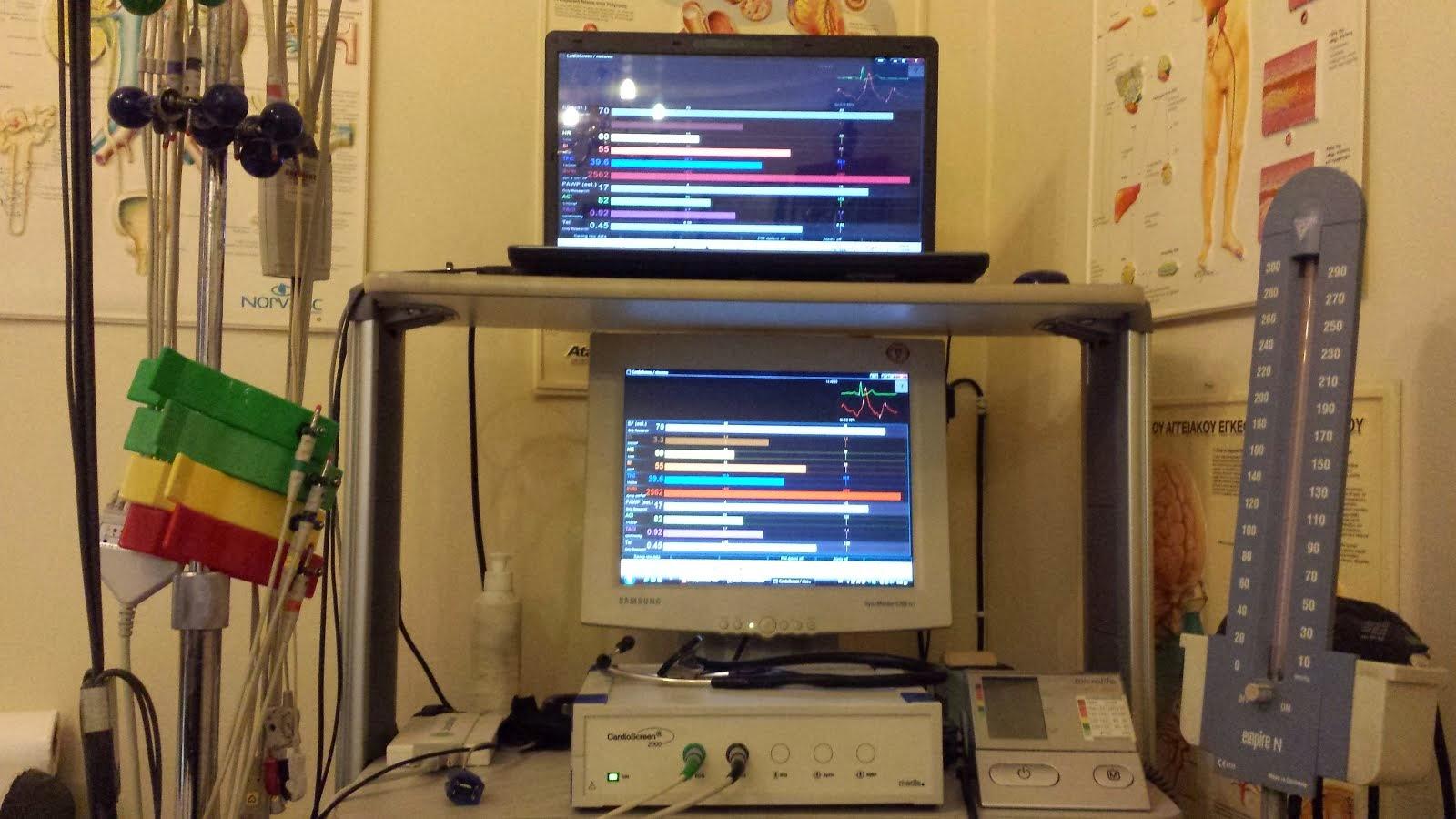 Συστημα Αναιμακτης Αιμοδυναμικης Μελετης -  Impedance Cardiography (ICG)