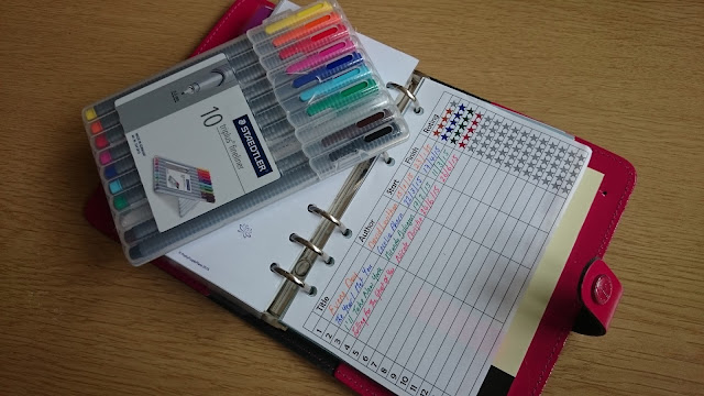 reading list book tracker printable filofax personal page inserts
