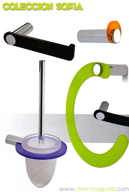 Accesorios Baño Verde:Accesorios para el baño en metacrilato de colores ~ Reformas Guaita