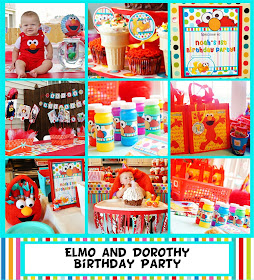 Elmo and Dorothy Birthday Party
