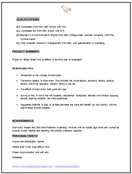 ... and Resume Samples with Free Download: MBA Marketing Resume Sample Doc