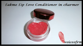 Lakme Lip Love Conditioner in Charmer Packing, swatch, review and LOTD