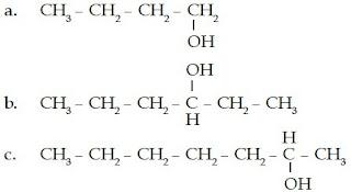 1-butanol 3-heksanol 2-heptanol