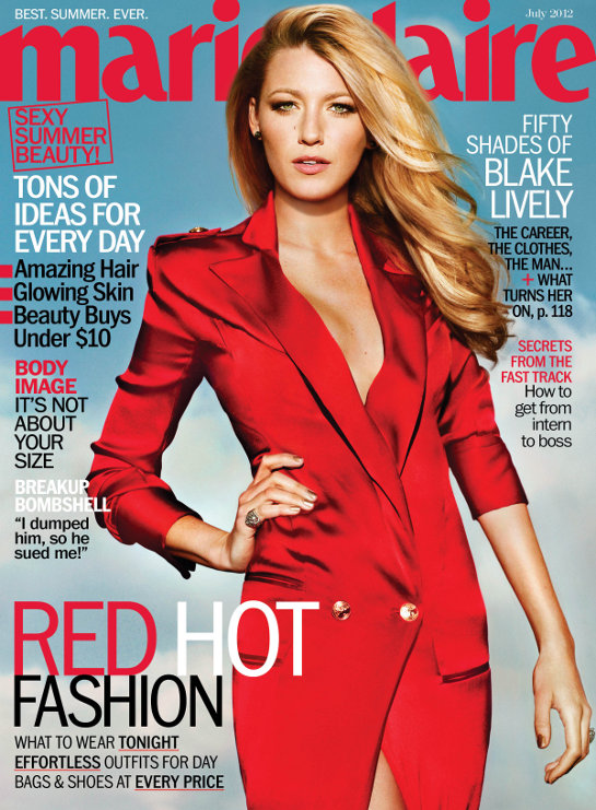 Blake Lively is Red Hot on the Cover of Marie Claire  Gossip