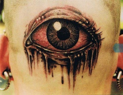 Scary Eye Tattoo Illusion