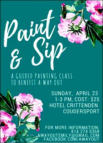 "4-23 Paint & Sip ""A Way Out"""