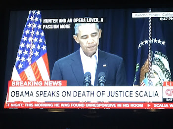 "Calling Scalia a ""Remarkable Man"".....President Obama Vows to Nominate Sucessor"