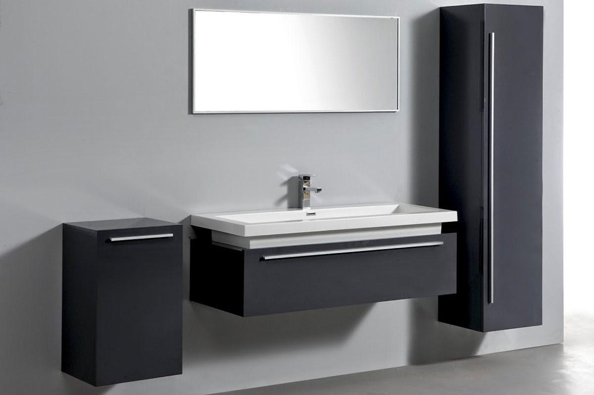 Meuble vasque gris - Meuble sous vasque pas cher ...