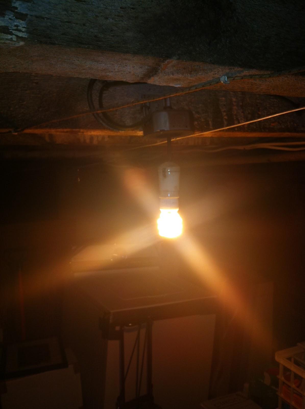 GEN Electric   Old Basement Lighting - Basement light fixture
