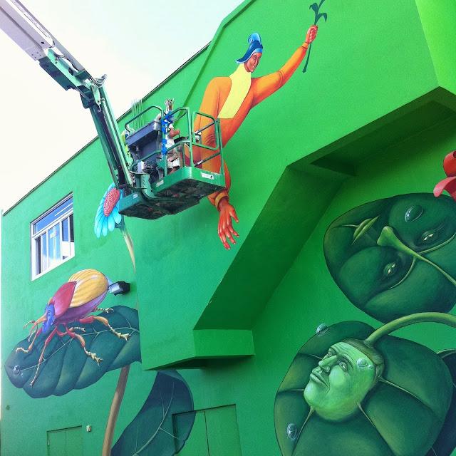 Work In Progress By Ukrainian Street Art Duo Interesni Kazki In Miami, USA. 7