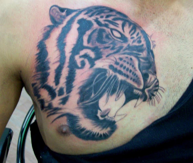 Tattoos Designs, Pictures And Ideas: Tiger Head Tattoo On
