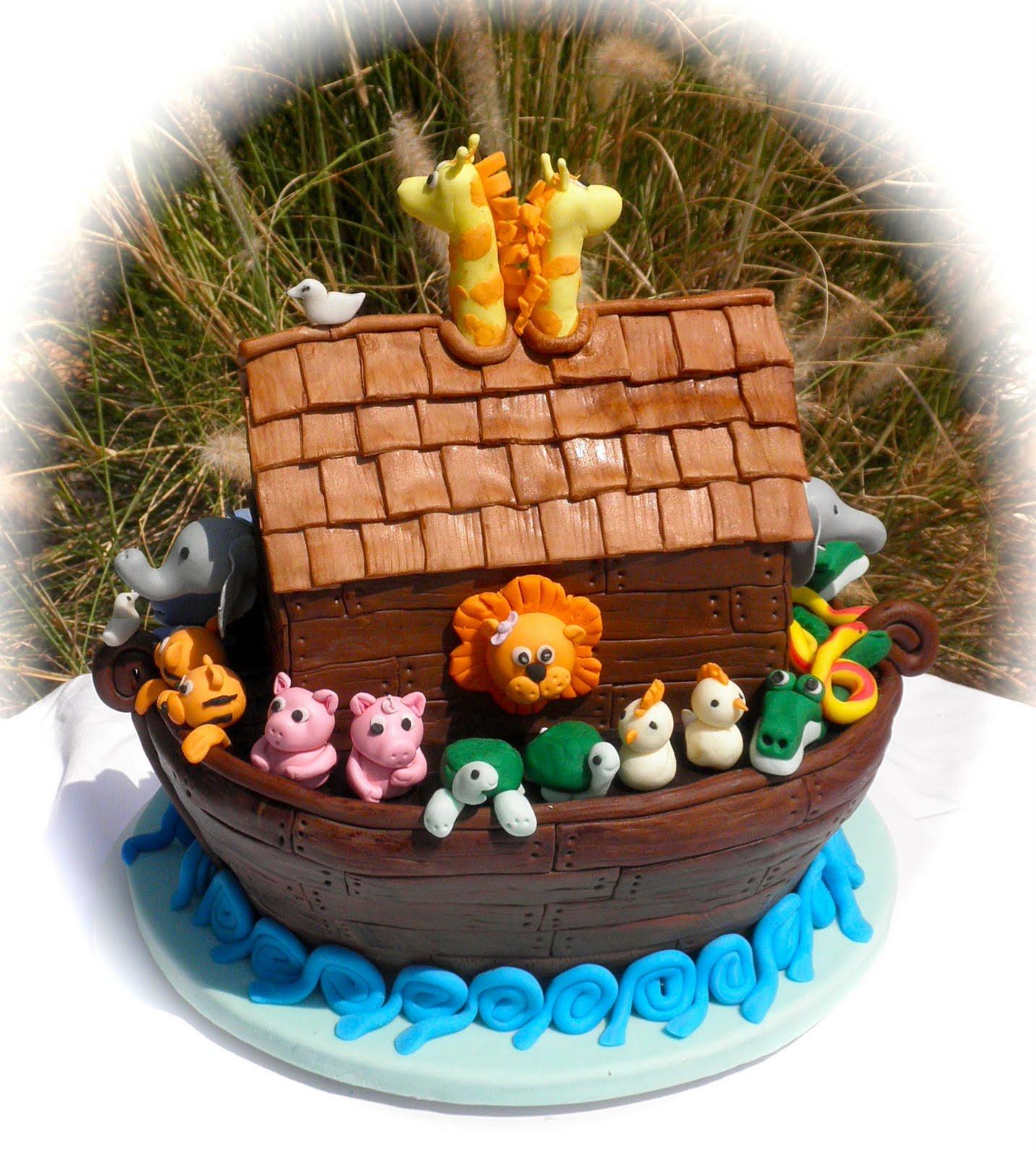 sweet t 39 s cake design noah 39 s ark baby shower cake