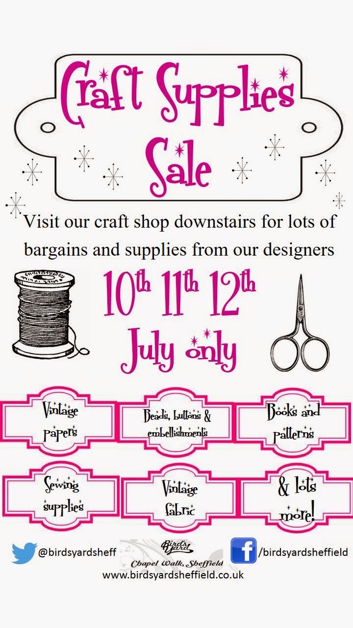 craft supply sale sheffield