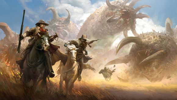 Kekai Kotaki ilustrações arte conceitual fantasia dragões, demônios e outros gigantescos monstros