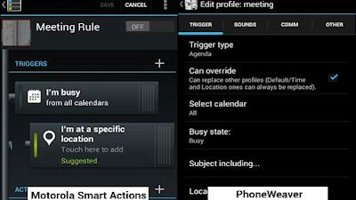 Motorola Smart Actions