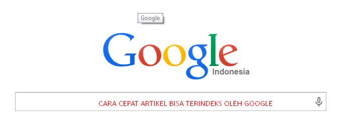 Cara Ampuh Artikel Blog Cepat Terindex Google