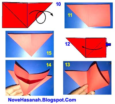 cara membuat origami hewan kepiting