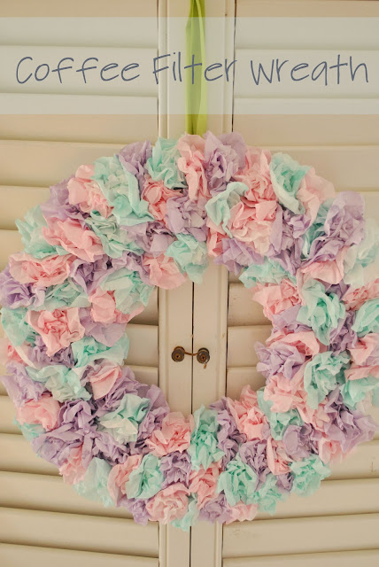 ... on the tip of my tongue...: Project Pinterest: Coffee Filter Wreath