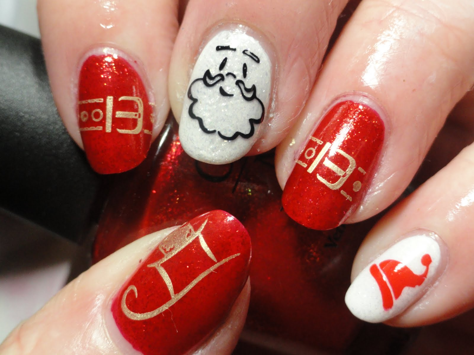 Santa Claus the Night Before Christmas | Nail Art Ideas