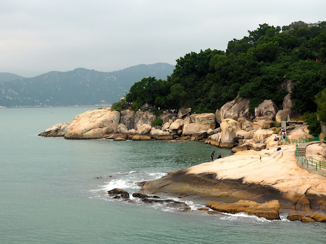 Coastal rock formations, where Cheung Po Tsai pirate cave lies, on Cheung Chau Island, Hong Kong