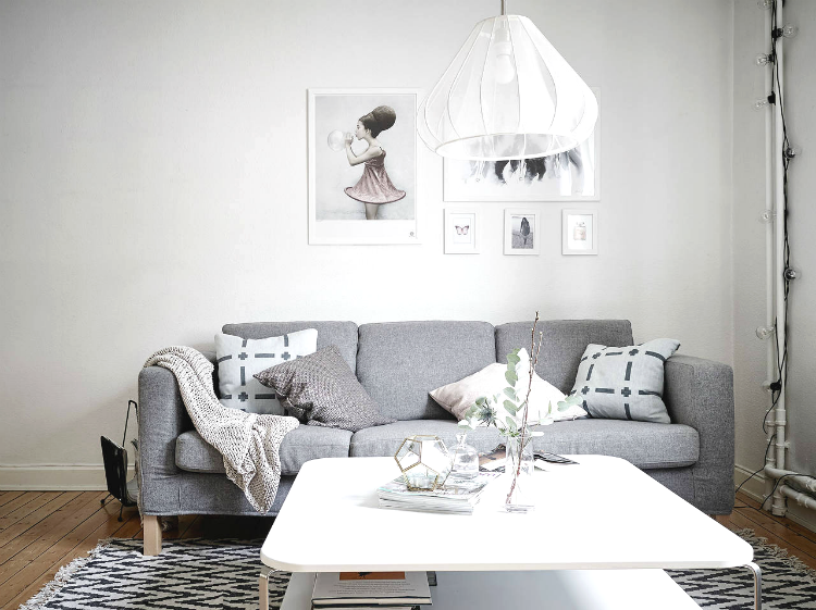 Apartamento nórdico decorado en tonos grises by Habitan2