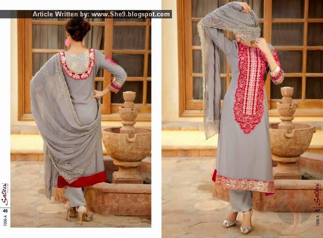 Salitex Chiffon Semi Stitched Dress Collection