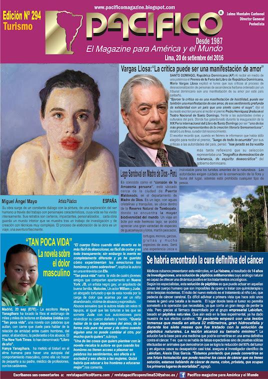 Revista Pacífico Nº 294 Turismo