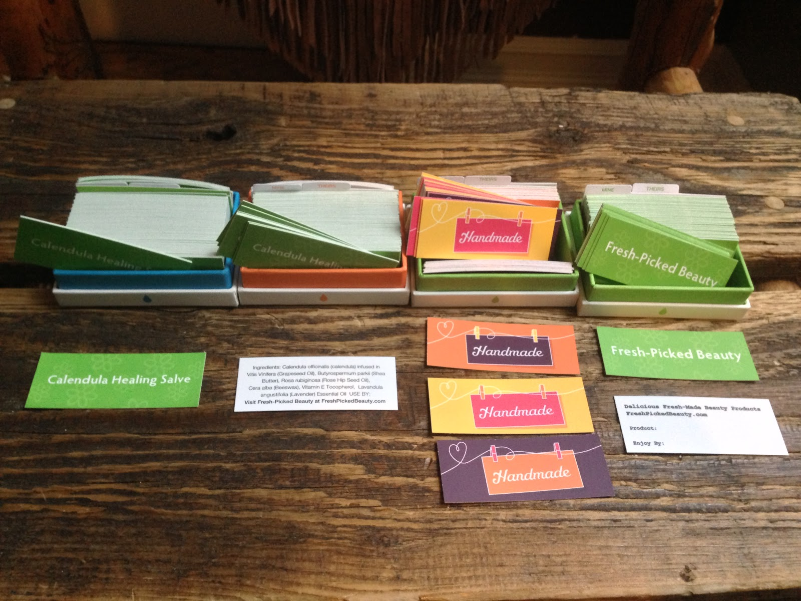 fresh picked beauty moo cards