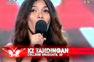 KZ Tandingan The X Factor Philippines August 18, 2012.