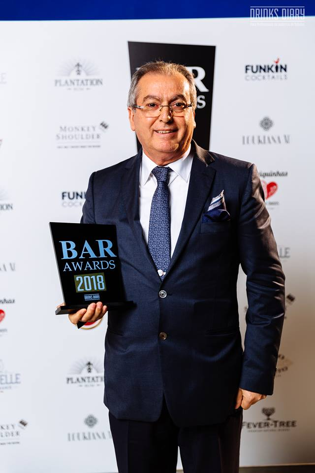 Drinks Diary Bar Awards 2018. Prémio Carreira - Francisco Guerreiro
