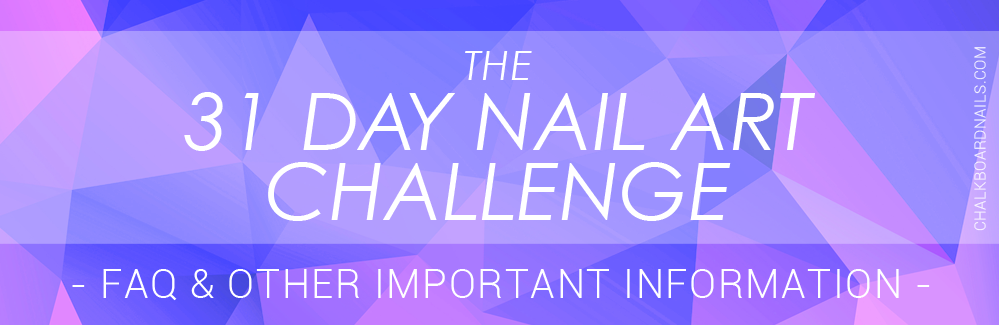 The 31 Day Nail Art Challenge