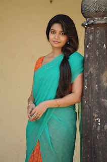 Swathi looks beautiful in Saree from movie Tripura