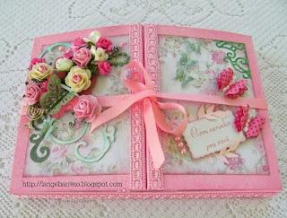 Caixa decorada flores woc