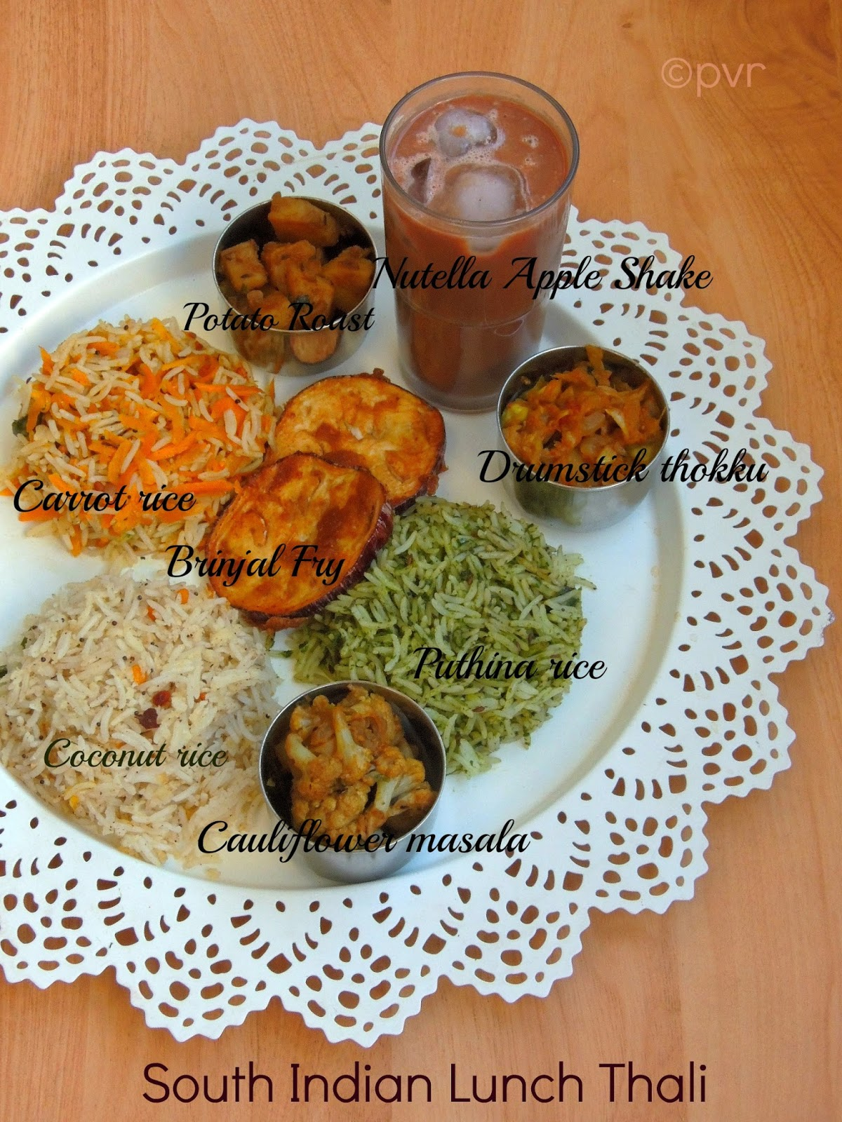 Priyas versatile recipes south indian lunch thali with nutella priyas versatile recipes south indian lunch thali with nutella apple shake a virtual birthday party for manjula forumfinder Gallery