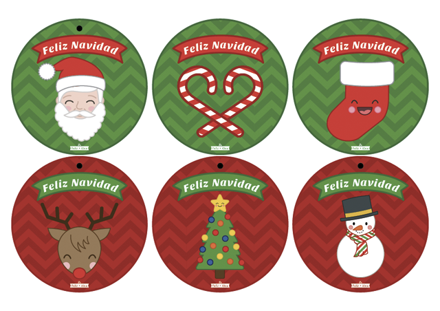 Free printable Christmas garland - Guirnalda de Navidad imprimible gratuito