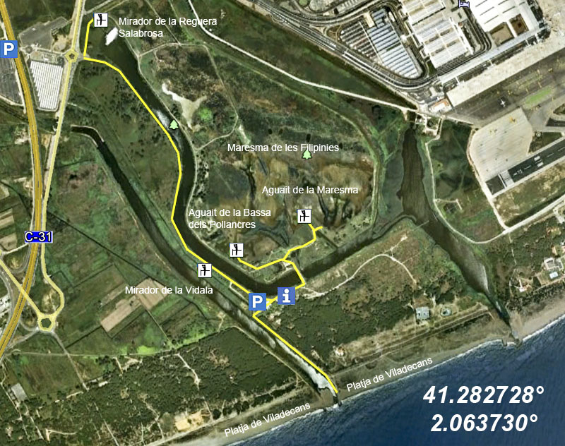 Delta Del Llobregat Mapa Mapa Del Delta Del Llobregat