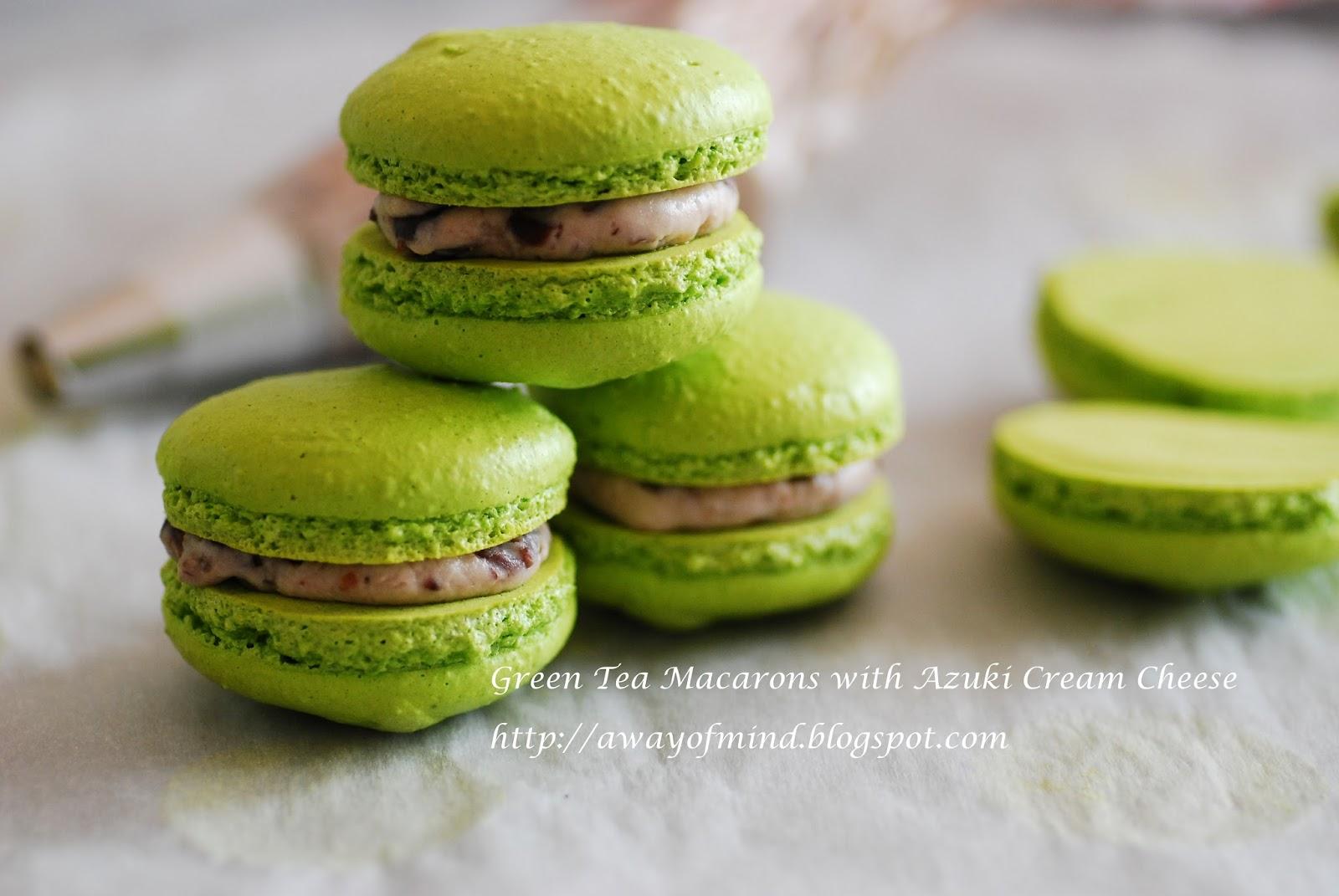 Awayofmind Bakery House: Geen Tea Macarons with Azuki ...