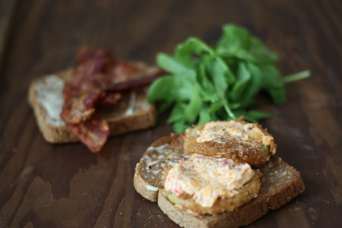 Fried Green Tomato BLT's with Pimento Cheese