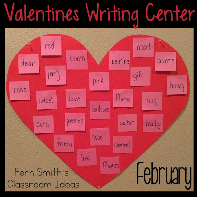 Fern Smith's Classroom Ideas $100 Macy's Gift Card Giveaway, a Valentine's Day Writing Center and Tons of Valentine's Resources and Freebies!